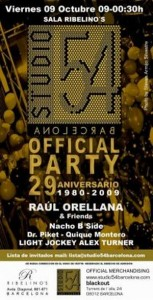 Studio 54 official party