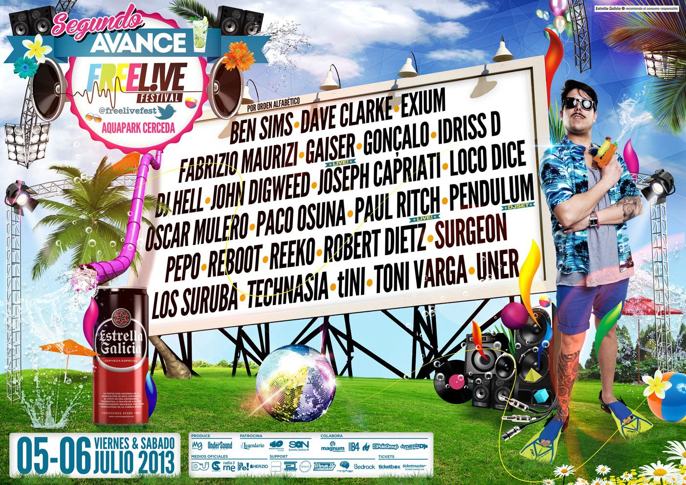 Freelive 2013 avance cartel