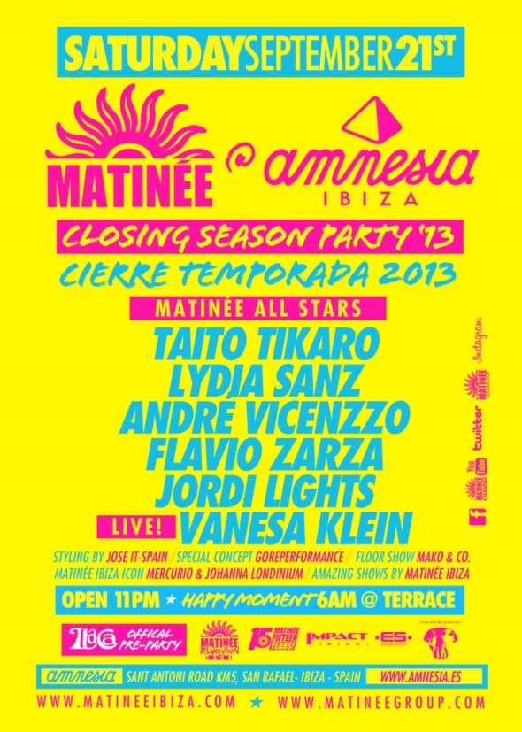 Matinée Ibiza Closing Party 2013