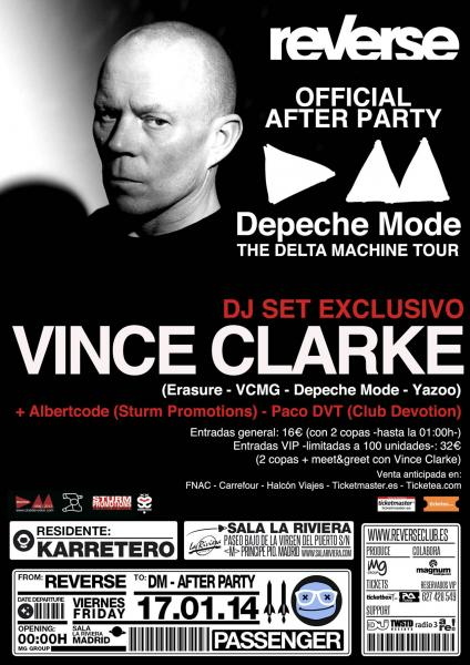 Vince Clarke @ Depeche Mode Oficial After Party Madrid