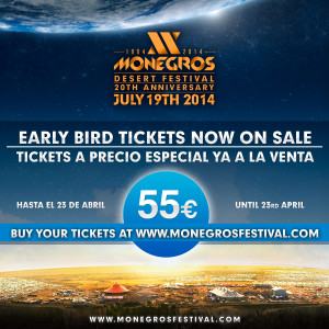 Monegros Early Bird Tickets