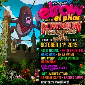 Elrow goes to El Pilar - Cartel
